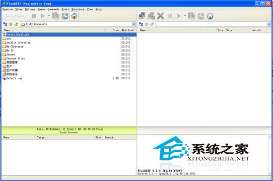 """FlashFXP 是一个功能强大的 FXP/FTP 软件,融合了一些其他优秀 FTP 软件的优点,如像 CuteFTP 一样可以比较文件夹,支持彩色文字显示;像 BpFTP 支持多文件夹选择文件,能够缓存文件夹;像 LeapFTP 一样的外观界面,甚至设计思路也差相仿佛。支持文件夹(带子文件夹)的文件传送、删除;支持上传、下载及第三方文件续传;可以跳过指定的文件类型,只传送需要的文件;可以自定义不同文件类型的显示颜色;可以缓存远端文件夹列表,支持FTP代理及 Socks 3&4;具有避免空闲功能,防止被站点踢出;可以显示或隐藏""""隐藏""""属性的文件、文件夹;支持每个站点使用被动模式等"""