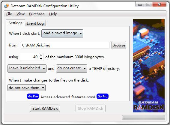 Dataram RAMDisk(内存虚拟硬盘软件) V4.4.0