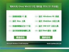雨林木风Ghost Win10 32位 青年装机版v2016.10月(完美激活)