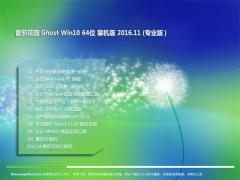 番茄花园Ghost Win10 (X64) 内部装机版v2016.11(免激活)