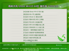 雨林木风Ghost Win10 (64位) 专业版2016v11(免激活)