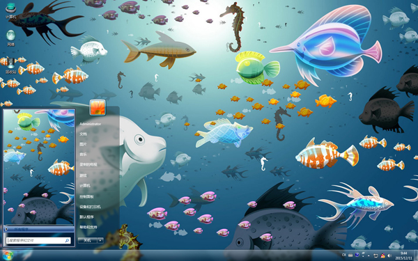 海底世界之可爱的鱼儿W8主题