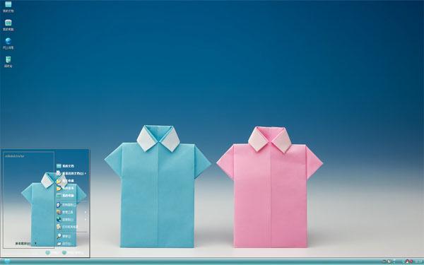 可爱折纸小衬衣W8主题