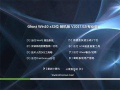 大地系统Ghost Win10 (X32) 完美装机版2017.02月(无需激活)