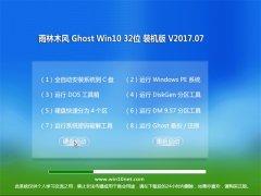 雨林木风Ghost Win10 X32位 完整装机版v2017.07(自动激活)