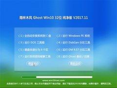 雨林木风Ghost Win10 x32 绝对纯净版2017V11(激活版)