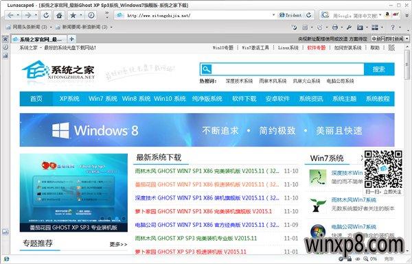Lunascape(浏览器) V6.15.2 中文绿色版